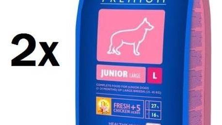 Granule Brit Premium Dog Junior L 2 x 15 kg + Doprava zdarma
