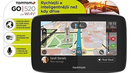 Navigační systém GPS Tomtom GO 520 World, Wi-Fi, LIFETIME mapy (1PN5.002.01) černá