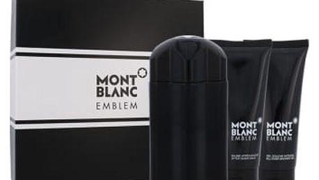 Mont Blanc Emblem dárková kazeta pro muže toaletní voda 100 ml + balzám po holení 100 ml + sprchový gel 100 ml