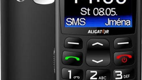 Aligator A670, černá + nabíjecí stojánek - A670B
