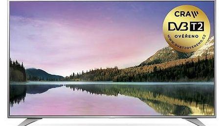 Televize LG 55UH6507 stříbrná/chrom + Doprava zdarma