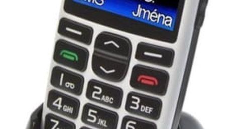 Mobilní telefon Aligator A680 + stojánek (A680W) bílý