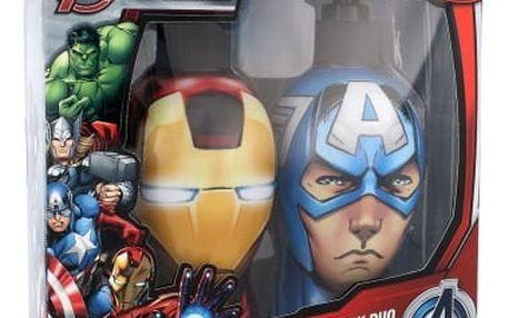 Marvel Avengers Iron Man & Captain America dárková kazeta šampon & sprchový gel 2v1 Iron Man 300 ml + šampon & sprchový gel 2v1 Captain America 300 ml