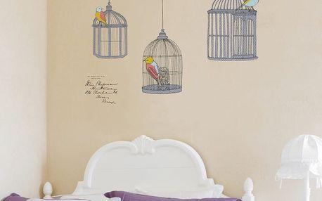 Sada samolepek Ambiance Birds In Cage