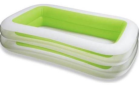 Dětský bazén Intex 2,62 x 1,75 x 0,56 m zelenobílý (56483NP) + Doprava zdarma