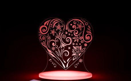 Dětské LED noční světýlko Aloka Loveheart - doprava zdarma!