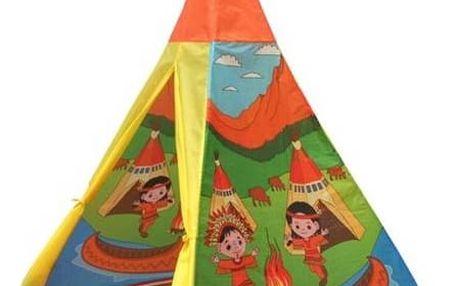 Stan dětský Acra ST09/2 teepee - indiánský motiv žlutý/zelený/oranžový