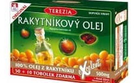 TEREZIA Rakytníkový olej 100% 50+10 tobolek ZDARMA