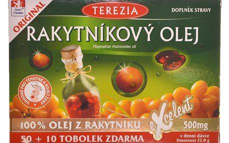 Terezia Company Rakytníkový olej 100% 50 + 10 tobolek zdarma