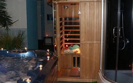 Relaxace v privátní vířivce nebo v sauně pro dva, pro 2 až 4 osoby v salónu Thani spa.