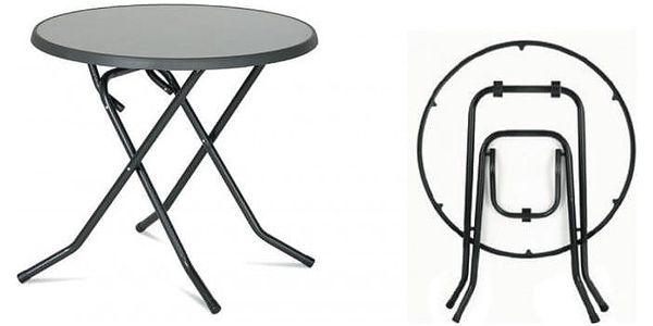 Kovový stůl PIZARRA CROSSED ø 70 cm3