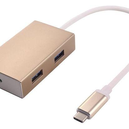 PremiumCord USB3.1 hub 4x USB3.0 hliníkové pouzdro - ku31hub01
