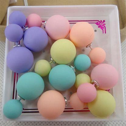 5 párů oboustranných náušnic - 12 barev