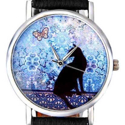 Dámské hodinky s motivem kočky - 3 barvy