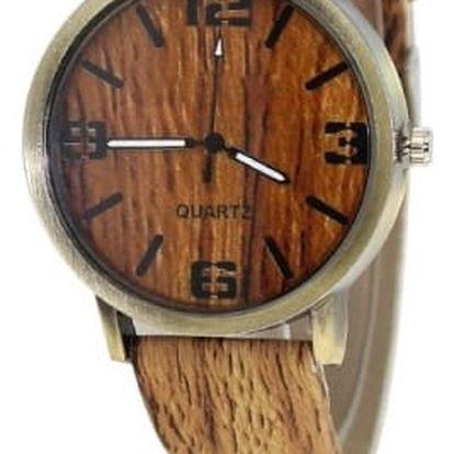 Módní náramkové hodinky s motivem dřeva