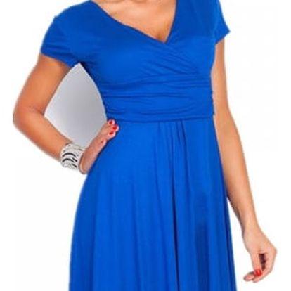 Elegantní šaty ke kolenům - 2 střihy, mix barev