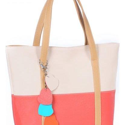 Prostorná kabelka ve veselých barvách - dodání do 2 dnů