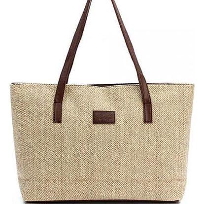 Prostorná kabelka v ležérním stylu - 2 barvy