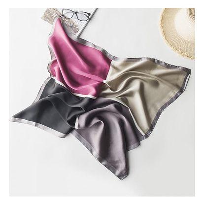 Jemný hedvábný šátek - mix barev