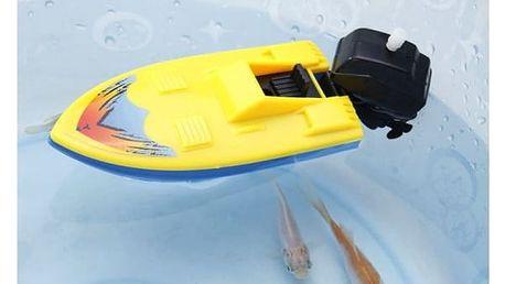 Nostalgická hračka - natahovací loďka