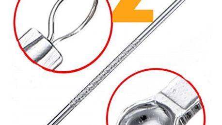 Jehla na odstranění akné - stříbrná barva - 2 kusy
