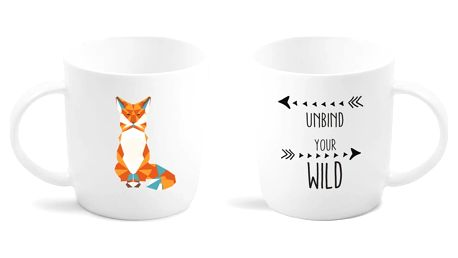 Porcelánový hrnek Vialli Design Wild Fox, 370 ml