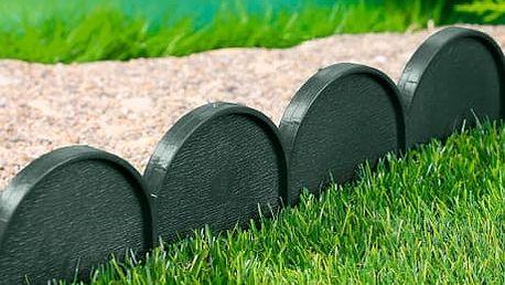 Zahradní plůtek obloukový, zelený, 20 ks