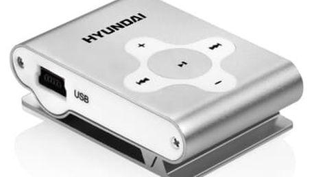 MP3 přehrávač Hyundai MP212S stříbrný