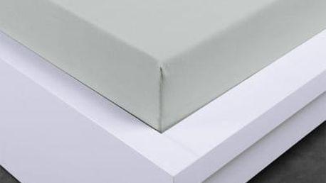 XPOSE ® Bambusové jersey prostěradlo jednolůžko - světlé šedá 180x200 cm