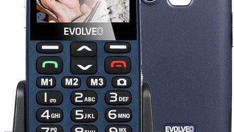 Evolveo EasyPhone XD s nabíjecím stojánkem, modrá - EP-600-XDL