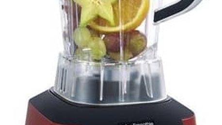 Stolní mixér G21 Blender Perfect smoothie Vitality red červený + Kniha Secret of Raw Sladká rawmance v hodnotě 450 Kč + Doprava zdarma