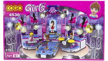 Stavebnice COGO Girls - Live Show, 418 ks