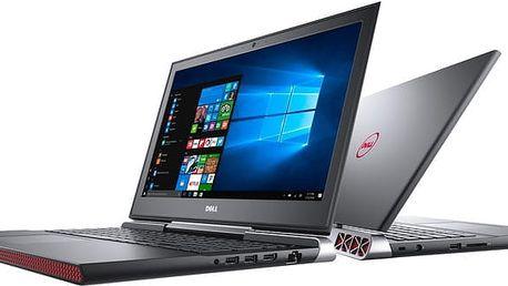 Dell Inspiron 15 Gaming (7566), černá - N-7566-N2-712K + Dell Targus 15-15.6 Clamshell Laptop Case Black k Dell NB zdarma