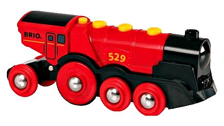 BRIO Mohutná elektrická červená lokomotiva se světly