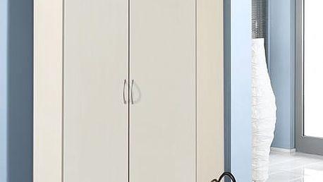 Sprint - rohová skříň,198 cm (alpská bílá)