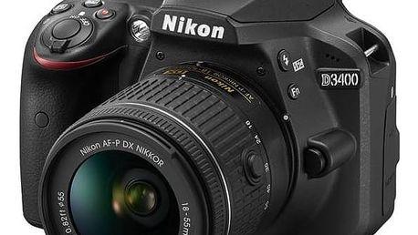 Digitální fotoaparát Nikon D3400 + AF-P 18-55 VR (VBA490K001) černý + cashback + Doprava zdarma