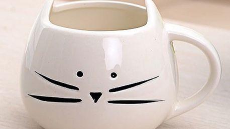 Roztomilý hrnek - kočička s oušky