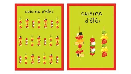 Sada 2 utěrek Incidence Cuisine D'été