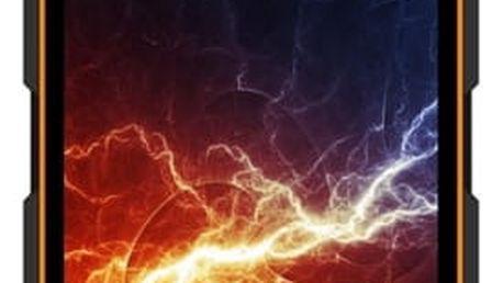 Mobilní telefon myPhone HAMMER ENERGY Dual SIM (TELMYAHAENEROR) černý/oranžový