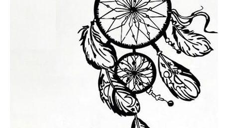 Samolepka na zeď - Indiánský lapač snů