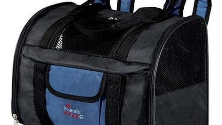 Taška přenosná pro psy Trixie Connor 44*30*21cm černo-modrá
