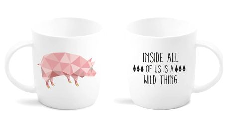 Hrnek Vialli Design Pig s oboustranným potiskem, 370ml
