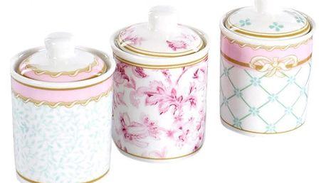 Sada 3 porcelánových dóz s víkem Cihan Bilisim Tekstil Romance Paris