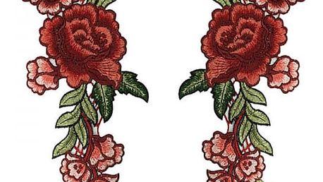 2 kusy květinových nášivek na textilie