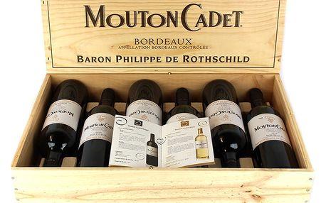 Baron Philippe de Rothschild Set červených vín Mouton Cadet Bordeaux 2012 6 x 0,75 l