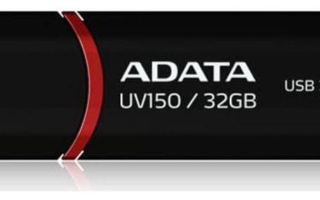 USB Flash A-Data UV150 32GB (AUV150-32G-RBK) černý