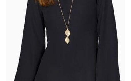 Dámské volné šifonové šaty s krajkou - 2 barvy