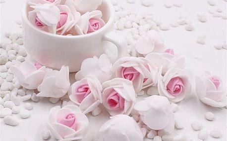 Dekorativní pěnové růžičky - 10 ks - více barev