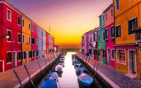 Víkendový výlet do romantických Benátek včetně návštěvy ostrovů Murano a Burano pro JEDNOHO