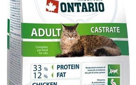 Granule Ontario Castrate 10 kg + Antiparazitní obojek za zvýhodněnou cenu + Doprava zdarma